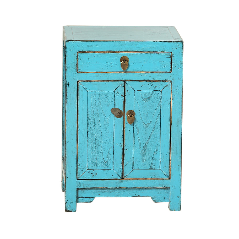 Blue Chinese Bedside Cabinet Shandong Style - Chinese homewares- Rouge Shop antique stores London - city furniture
