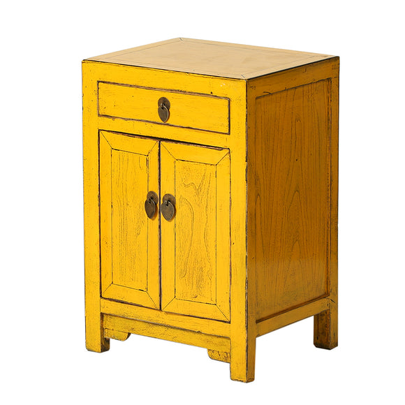 Yellow Chinese Bedside Cabinet Shandong Style - Chinese homewares- Rouge Shop antique stores London - city furniture