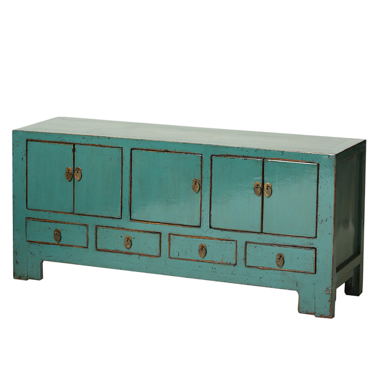 Vintage Teal Sideboard from Tianjin