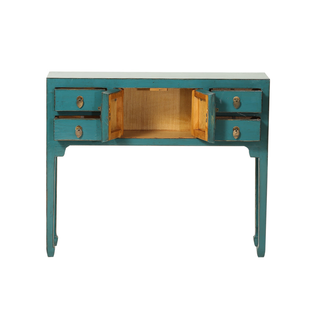 Teal Chinese Console Table