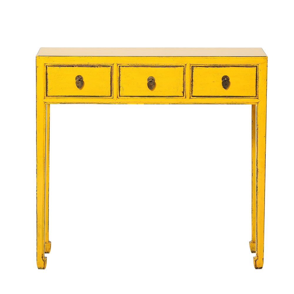 Chinese Console Table in Yellow - Chinese homewares- Rouge Shop antique stores London - city furniture