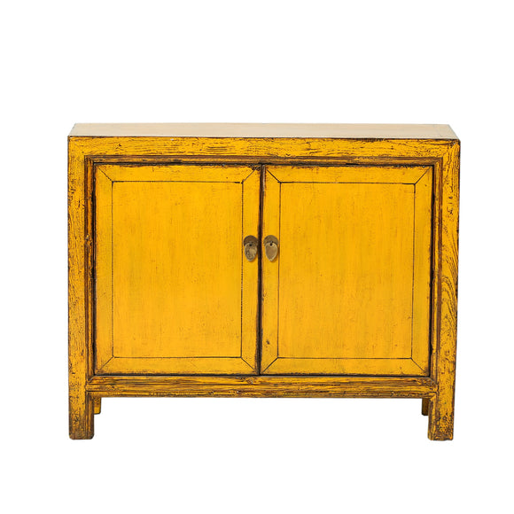 Yellow Vintage Cabinet from Gansu