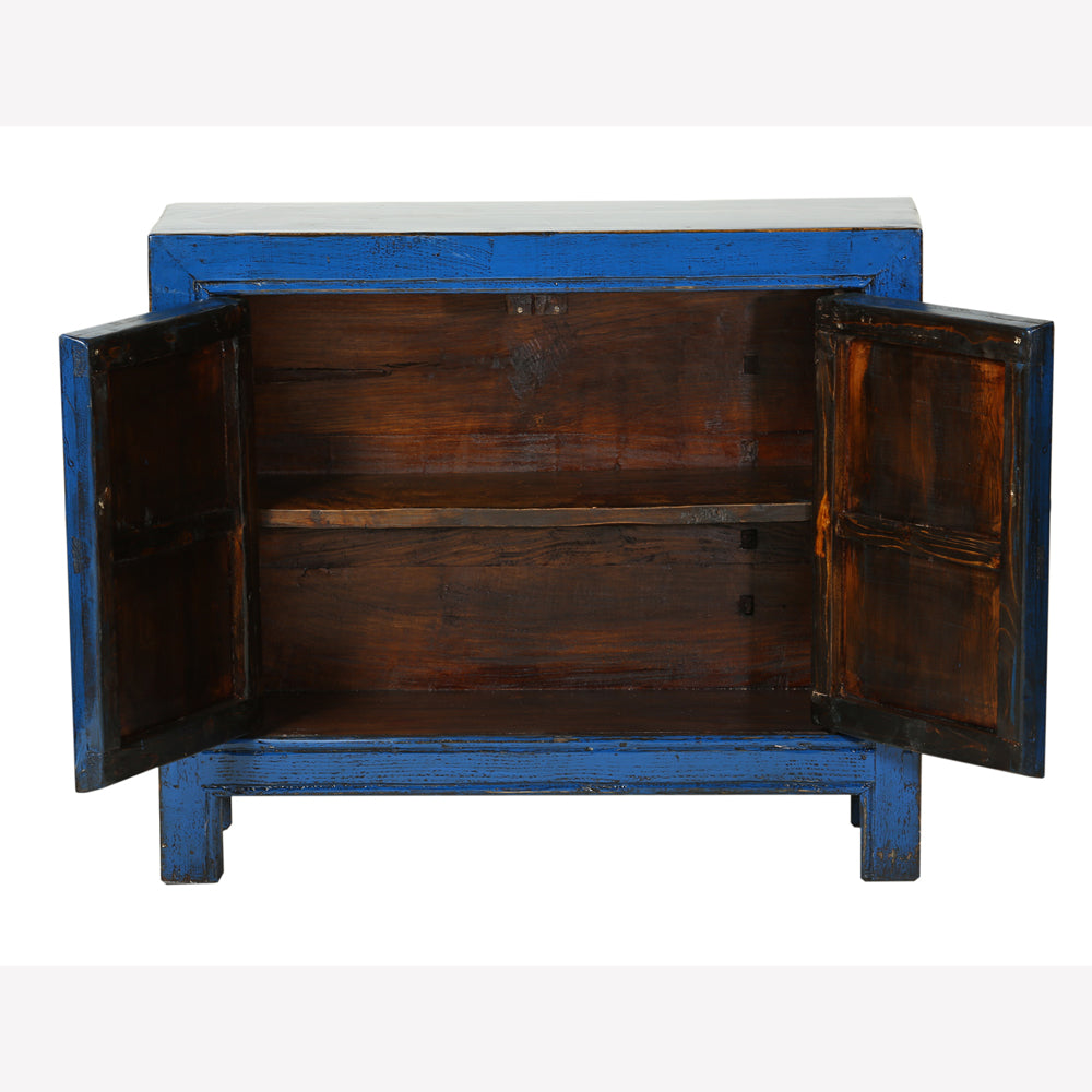 Blue Vintage Cabinet from Gansu - Chinese homewares- Rouge Shop antique stores London - city furniture