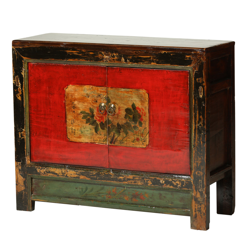 Vintage Cabinet from Gansu with Peonies - Chinese homewares- Rouge Shop antique stores London - city furniture