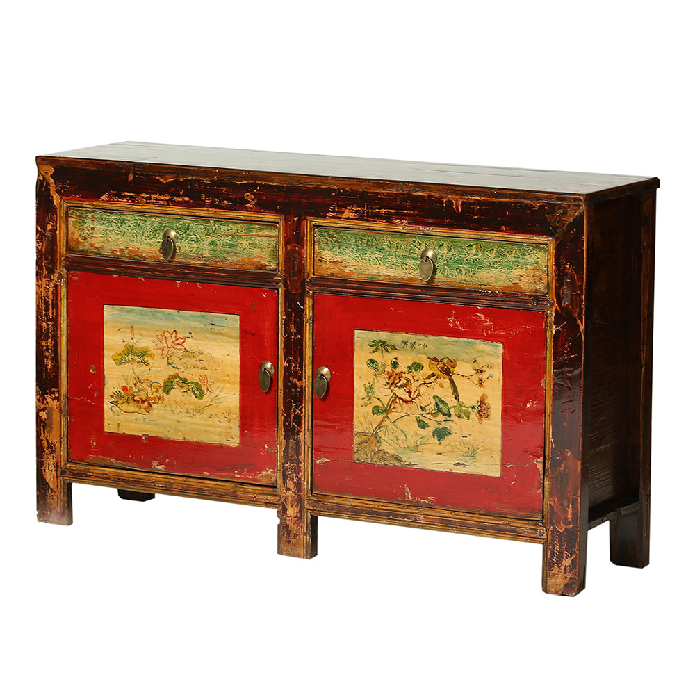Vintage Sideboard from Gansu with Ducks & Lotus and Birds & Peonies - Chinese homewares- Rouge Shop antique stores London - city furniture