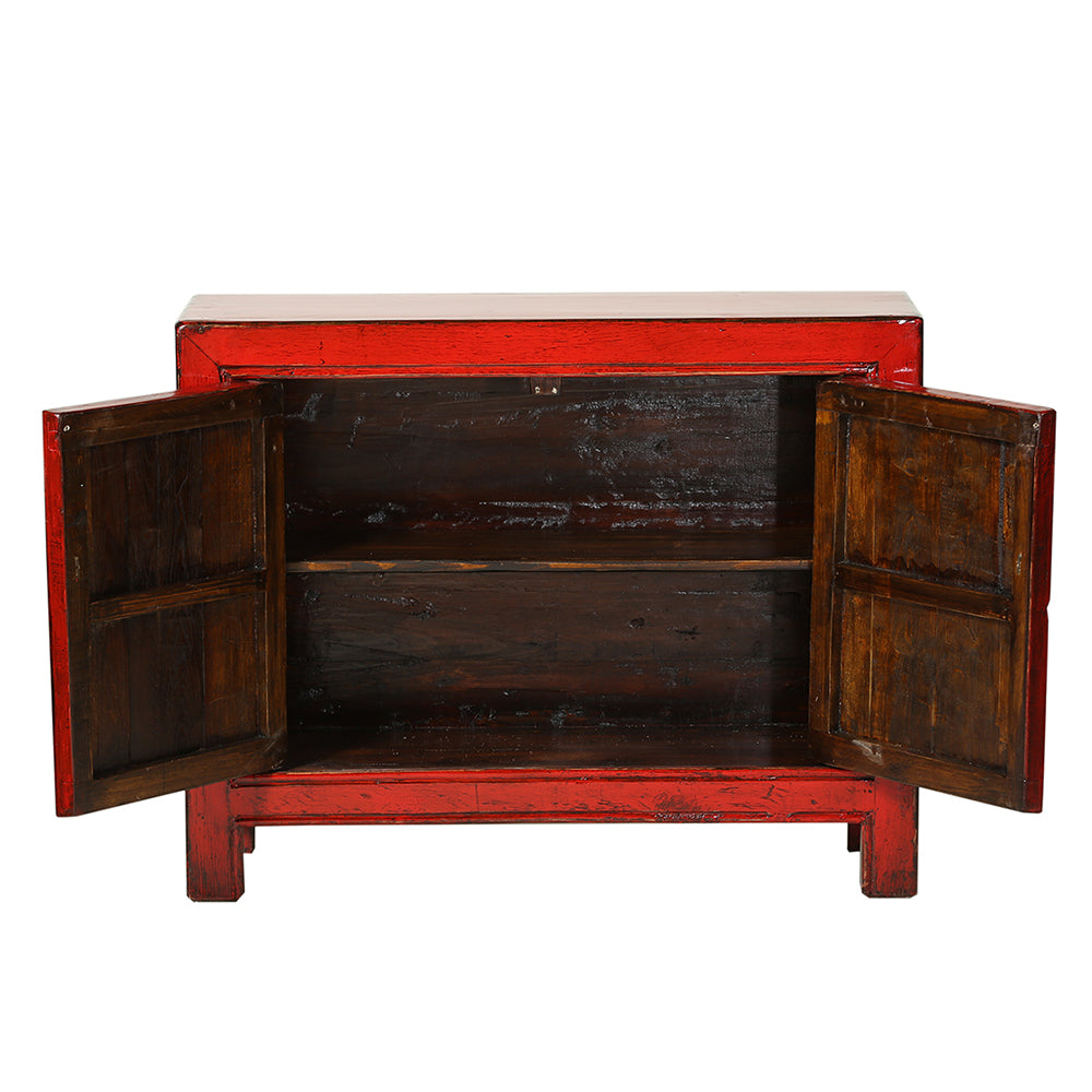Vintage Red Chinese Cabinet from Gansu - Chinese homewares- Rouge Shop antique stores London - city furniture