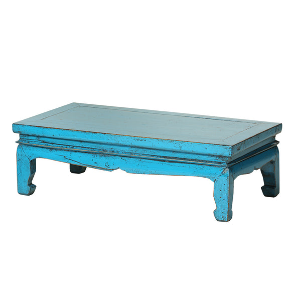 Light Blue Vintage Chinese Coffee Table from Shandong