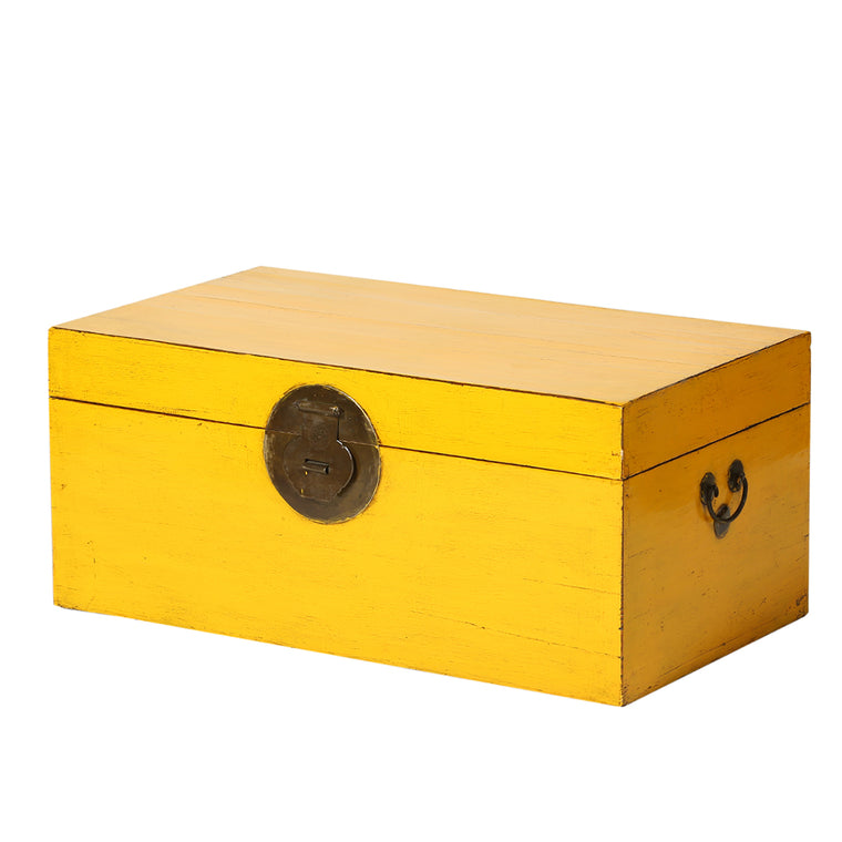 Vintage Yellow Chinese Chest from Beijing