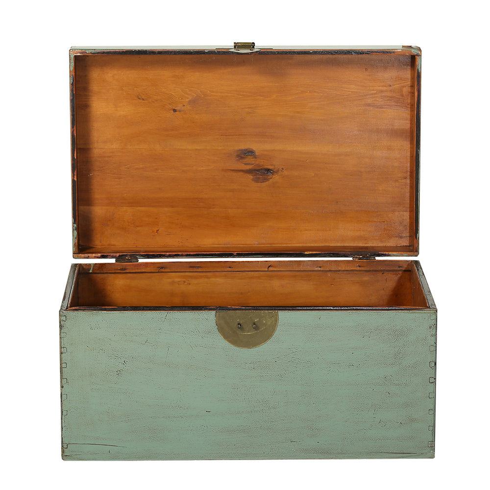 Vintage Green Chinese Chest from Beijing