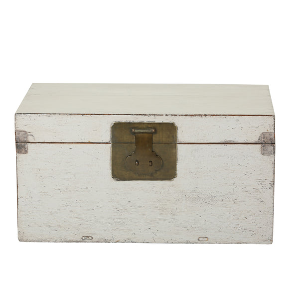 Vintage Light Grey Chinese Chest from Beijing - Chinese homewares- Rouge Shop antique stores London - city furniture