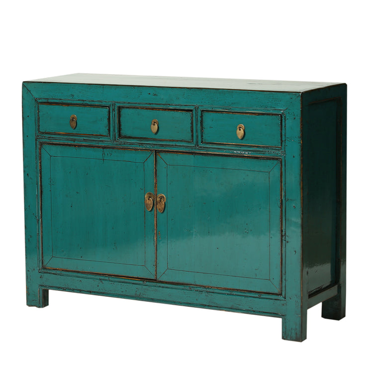 Turquoise Vintage Cabinet from Shandong - Chinese homewares- Rouge Shop antique stores London - city furniture