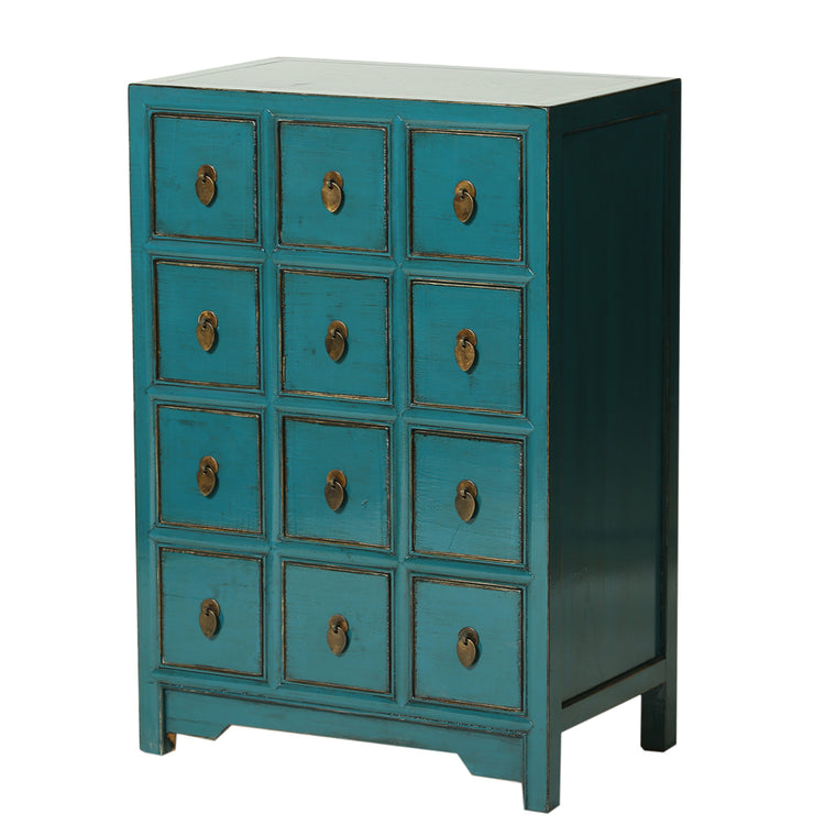 Turquoise Chinese Chest of Drawers