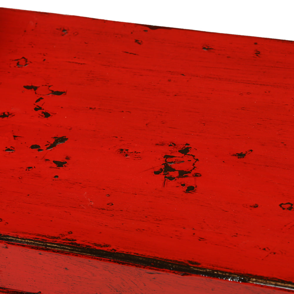Red Vintage Elm Cabinet from Shandong - Chinese homewares- Rouge Shop antique stores London - city furniture