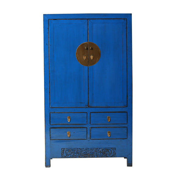 Blue Vintage Chinese Cupboard from Shanxi - Chinese homewares- Rouge Shop antique stores London - city furniture