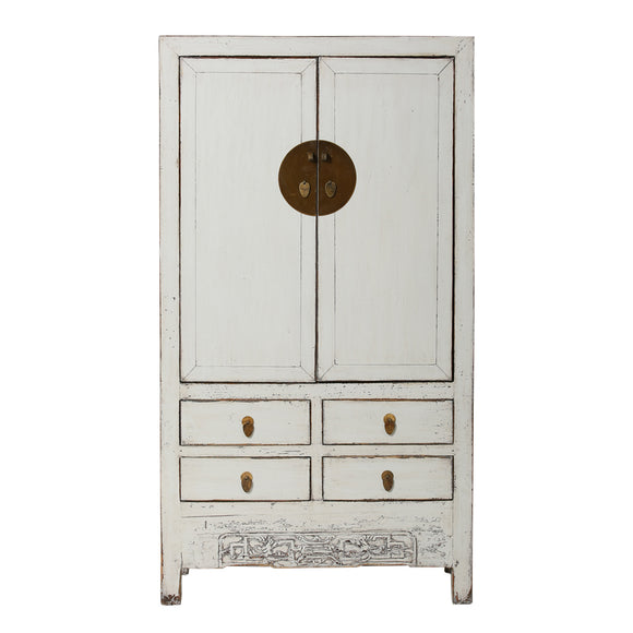 Grey Vintage Chinese Cupboard from Shanxi - Chinese homewares- Rouge Shop antique stores London - city furniture