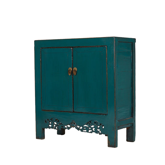 Vintage Cabinet from Shandong with Pierced Apron