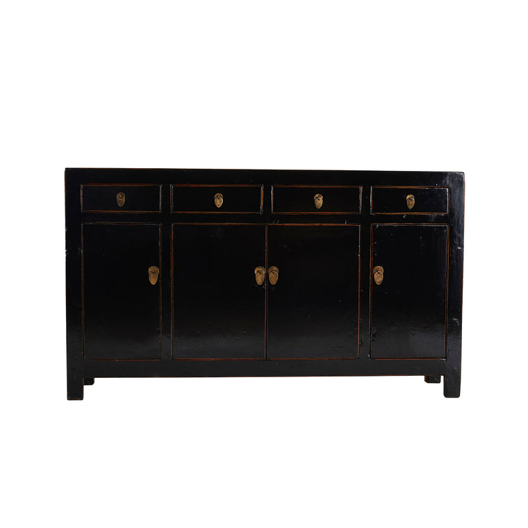 Black Vintage Sideboard from Dongbei