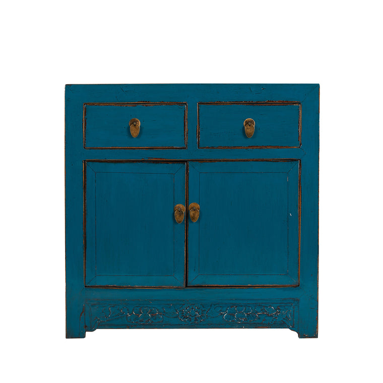 Medium Blue Vintage Cabinet from Shandong