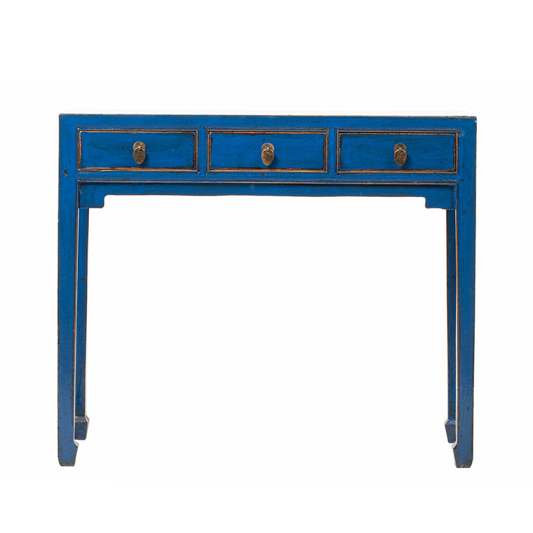 Vintage Chinese Console Desk in Blue from Shanxi