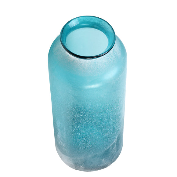 Blue Sanded Glass Vase - Chinese homewares- Rouge Shop antique stores London - city furniture