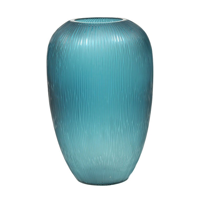 Blue Seaweed Glass Vase – Large - Chinese homewares- Rouge Shop antique stores London - city furniture