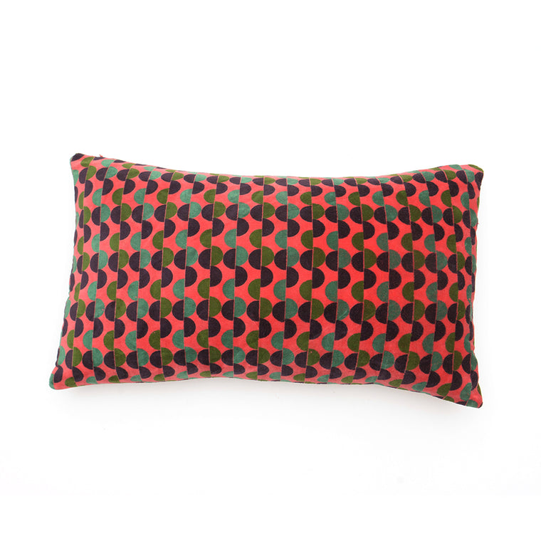 Cotton Velvet Cushion - Malmo Coral - Chinese homewares- Rouge Shop antique stores London - city furniture