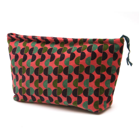 Cotton Velvet Washbag Bag - Malmo Coral Large - Chinese homewares- Rouge Shop antique stores London - city furniture