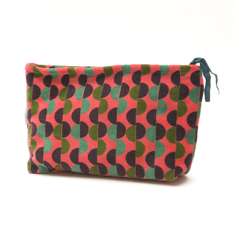 Cotton Velvet Washbag Bag - Malmo Coral Small - Chinese homewares- Rouge Shop antique stores London - city furniture