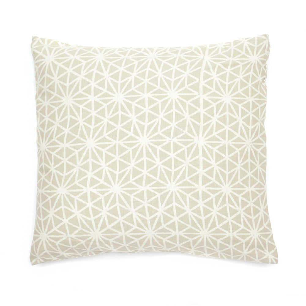 Mud Dyed Embroidered Cushion 50x50cm Natural