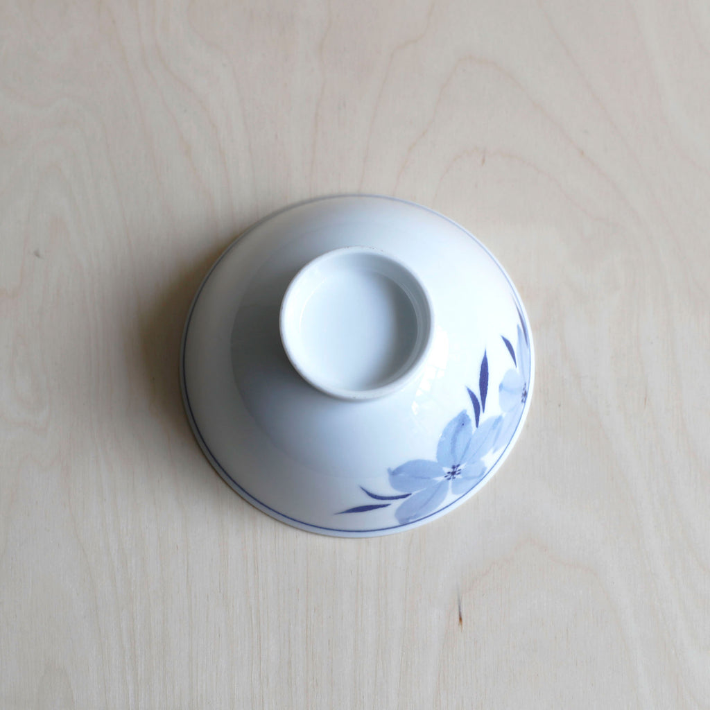 Porcelain Painted Flower Rice Bowl