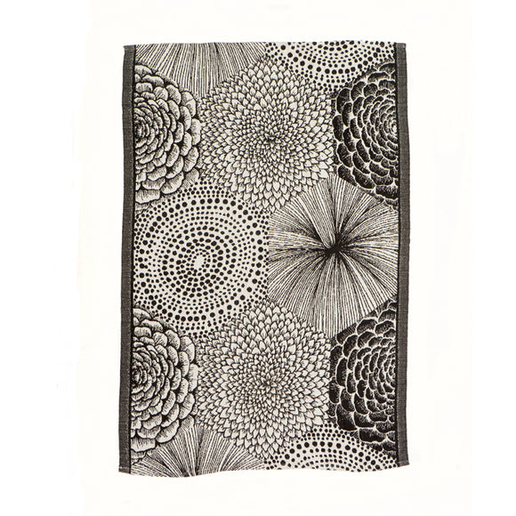 Black and White Woven Linen/Cotton Tea Towel - Chinese homewares- Rouge Shop antique stores London - city furniture