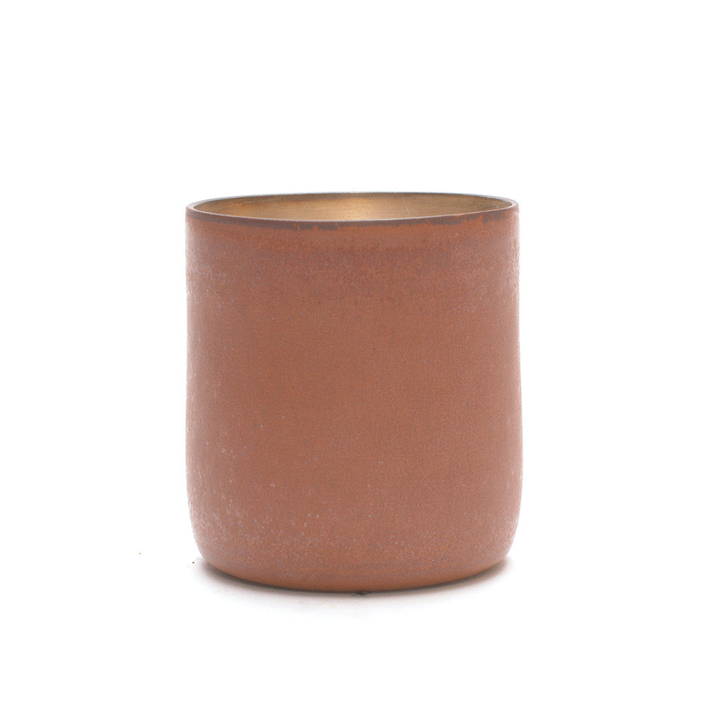 Red Clay and Silver Glaze Mug handle to the back