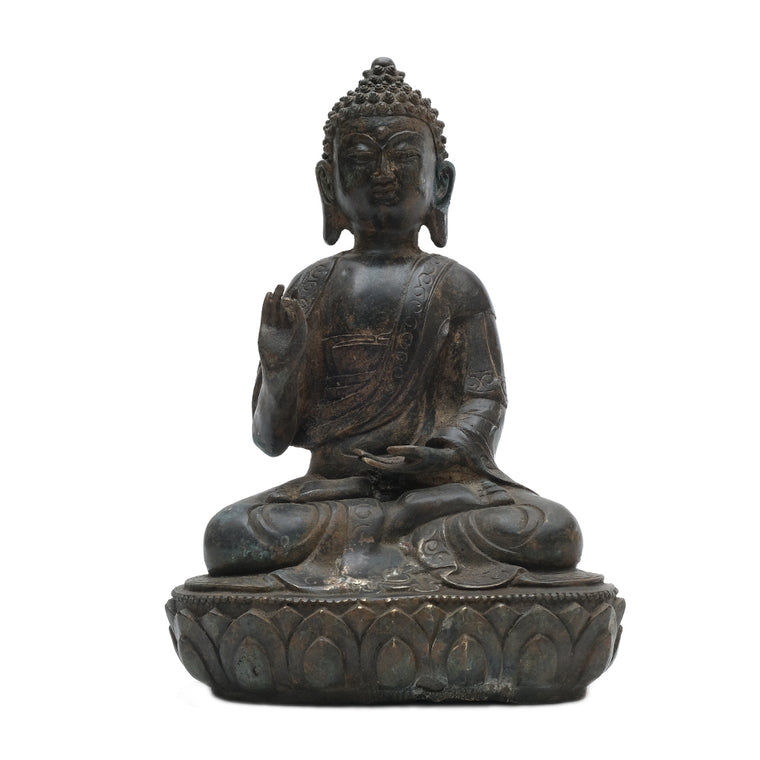 Cast Brass Seated Buddha No 5 - Chinese homewares- Rouge Shop antique stores London - city furniture