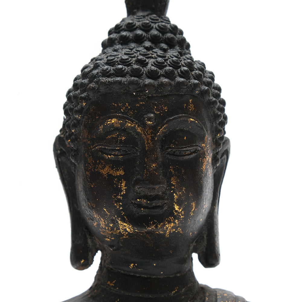 Cast Iron Seated Buddha No 4 - Chinese homewares- Rouge Shop antique stores London - city furniture
