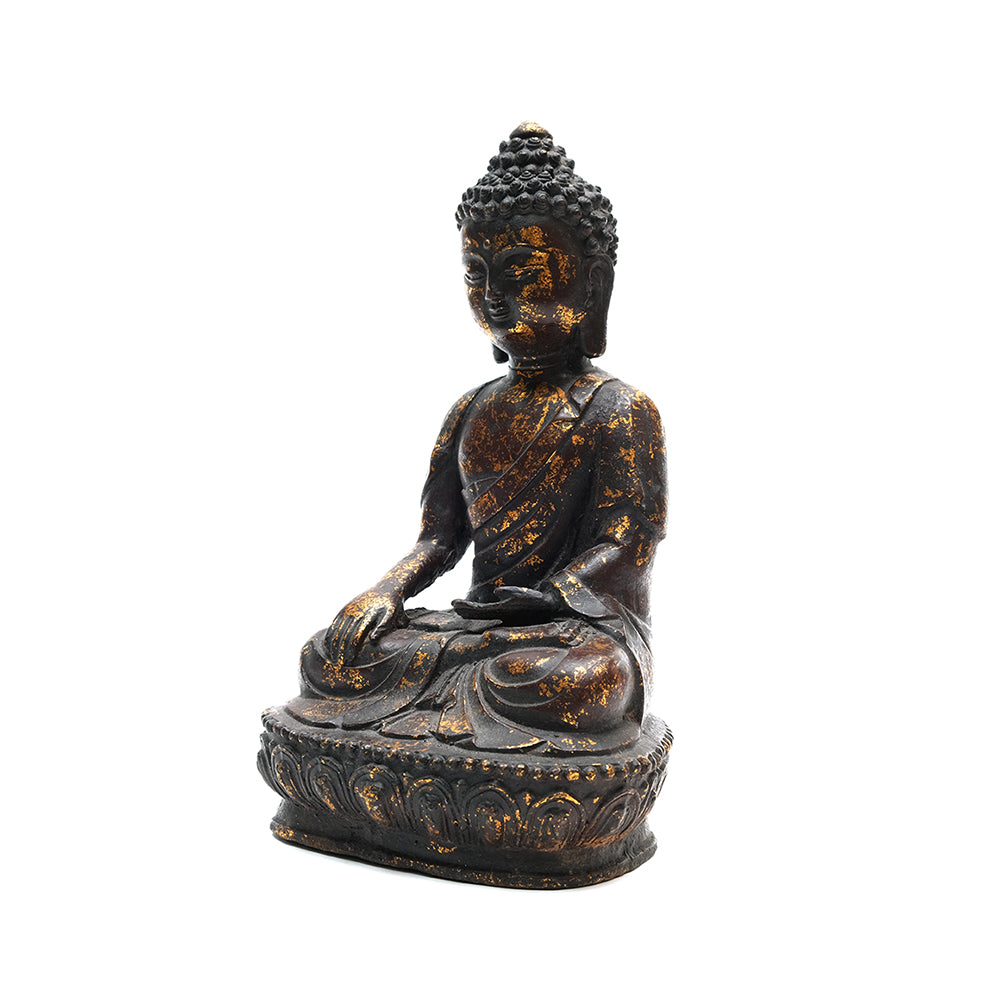 Cast Iron Seated Buddha No 6 - Chinese homewares- Rouge Shop antique stores London - city furniture