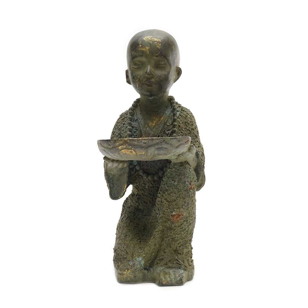 Cast Brass Buddhist Monk 01 - Chinese homewares- Rouge Shop antique stores London - city furniture