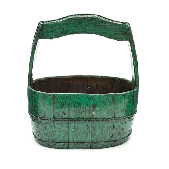 Vintage Chinese Wooden Oval Water Bucket - Chinese homewares- Rouge Shop antique stores London - city furniture