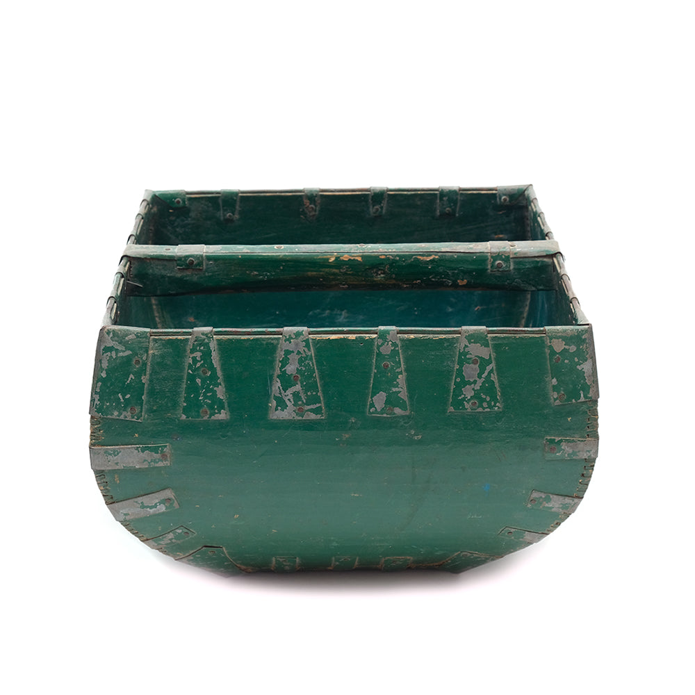 Vintage Wooden Rice Bucket No 01 - Chinese homewares- Rouge Shop antique stores London - city furniture