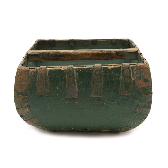 Vintage Wooden Rice Bucket No 02 - Chinese homewares- Rouge Shop antique stores London - city furniture