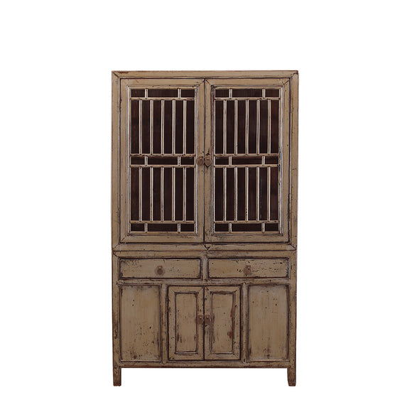 Vintage Grey Chinese Kitchen Cabinet from Jiangsu