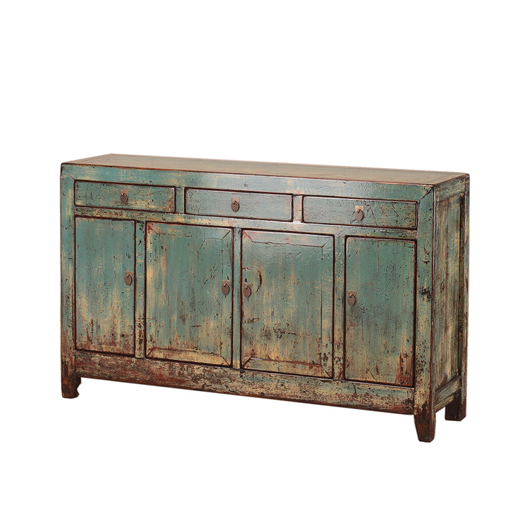 Vintage Turquoise Sideboard from Dongbei