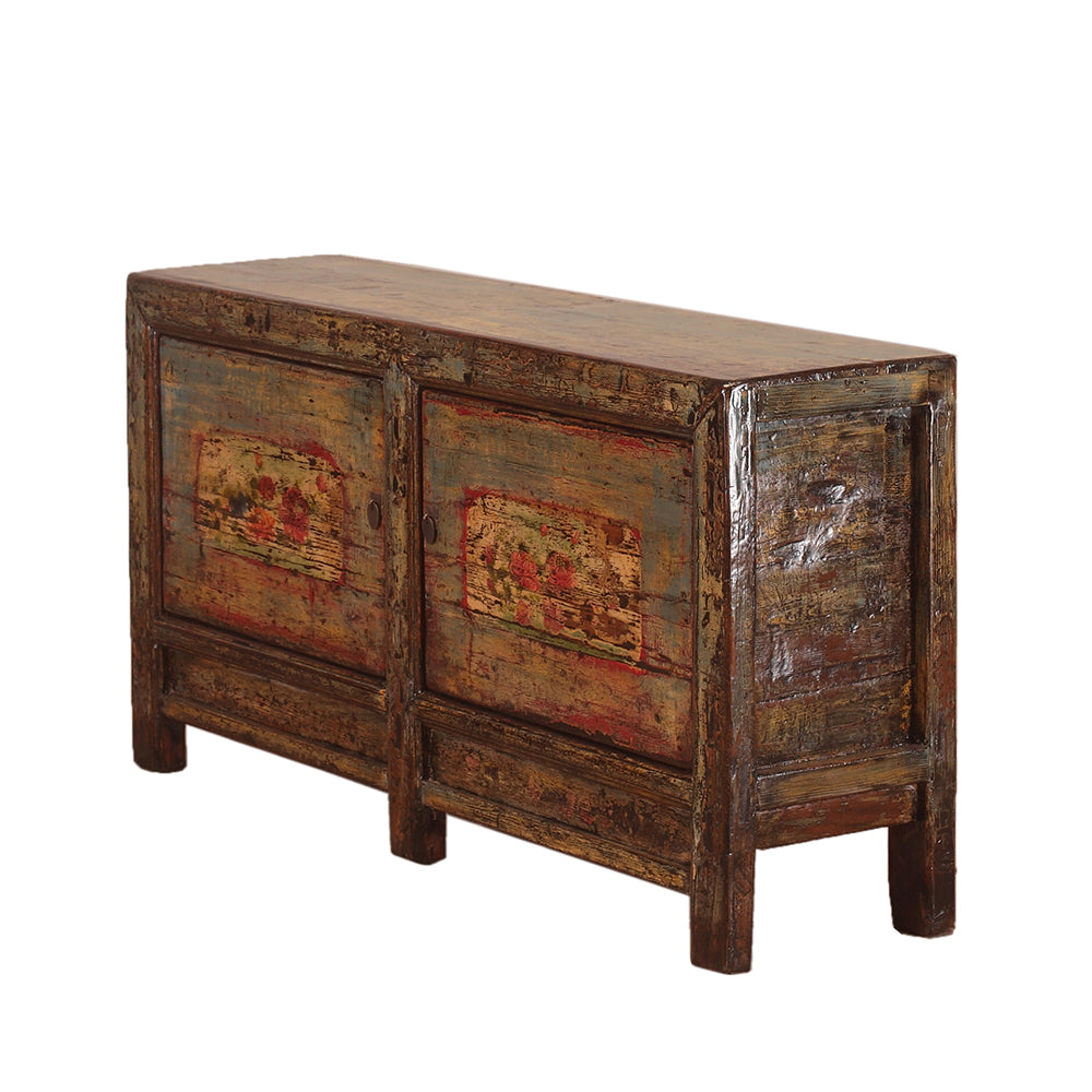 Vintage Chinese Two-Door Sideboard from Gansu Province
