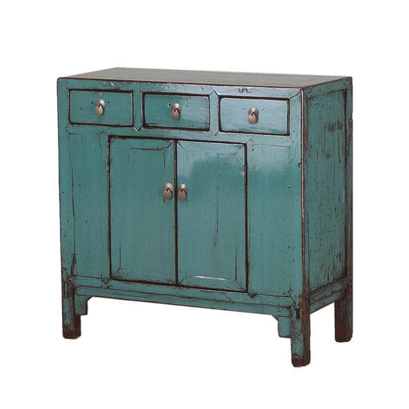 Vintage Turquoise Cabinet from Shandong