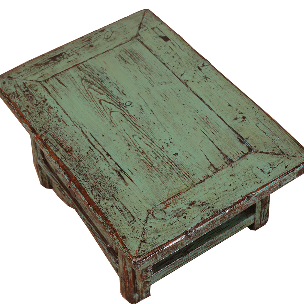 Vintage Green Kang Table from Shanxi