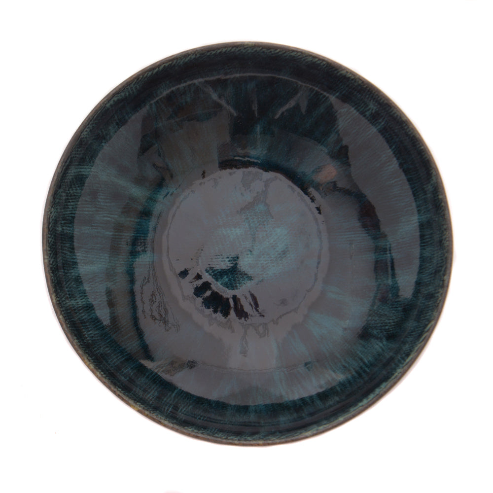 Babylon Shallow Bowl - Pacific Blue - Chinese homewares- Rouge Shop antique stores London - city furniture