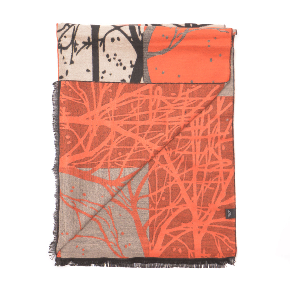 Branch Pattern Rayon Scarf - Orange - Chinese homewares- Rouge Shop antique stores London - city furniture
