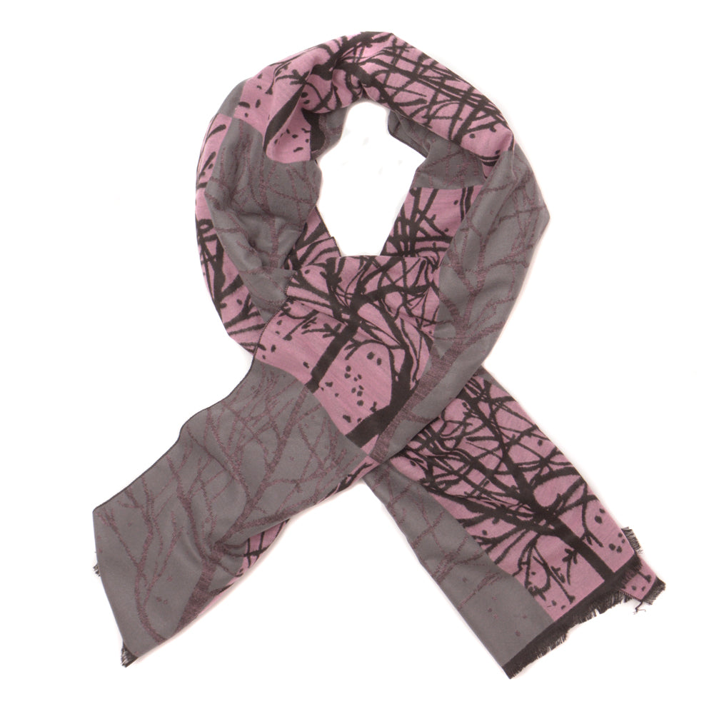 Branch Pattern Rayon Scarf - Pink - Chinese homewares- Rouge Shop antique stores London - city furniture