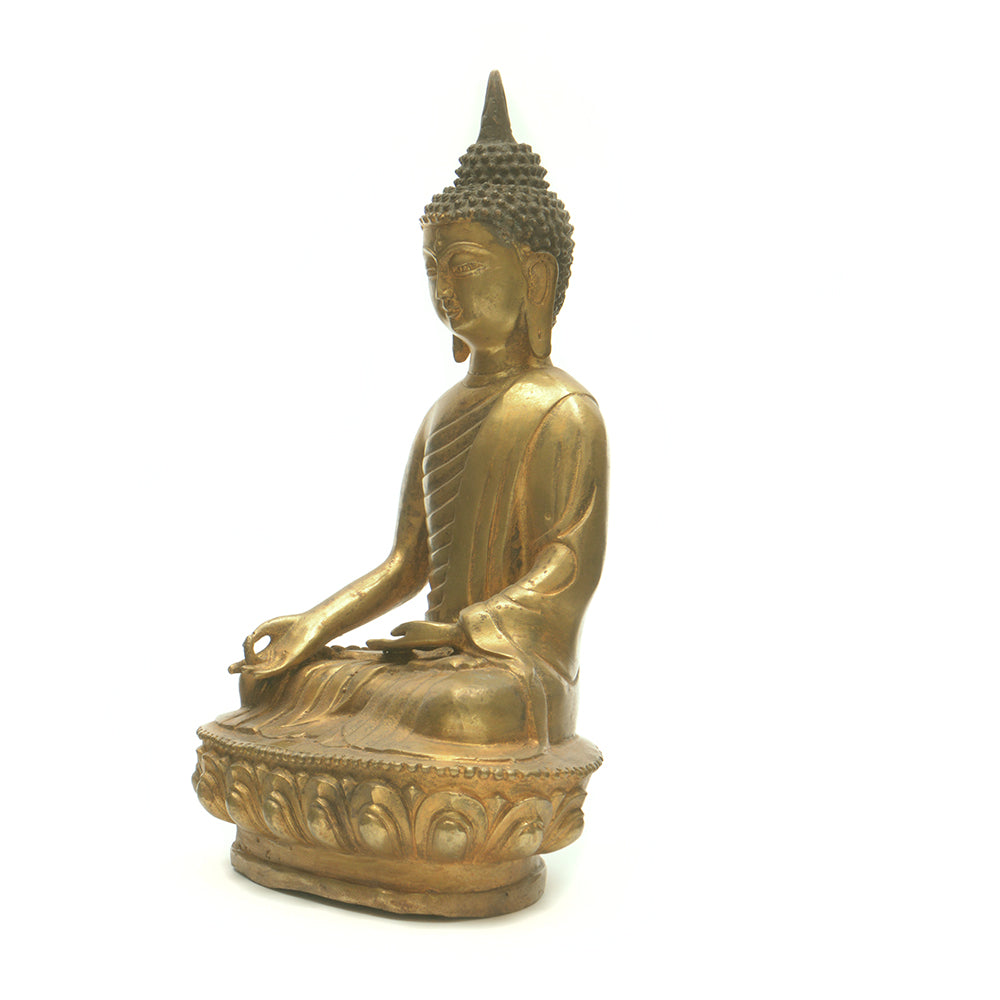 Cast Brass Seated Buddha No 1 - Chinese homewares- Rouge Shop antique stores London - city furniture