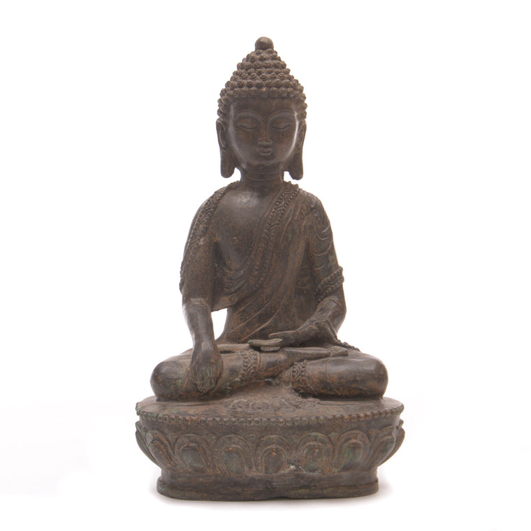 Cast Bronze Seated Buddha No 2 - Chinese homewares- Rouge Shop antique stores London - city furniture