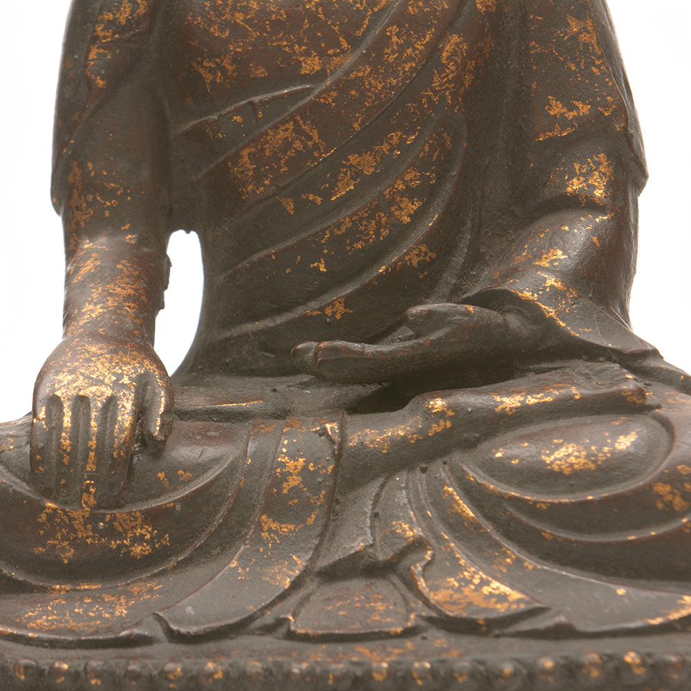 Cast Iron Seated Buddha No 2 - Chinese homewares- Rouge Shop antique stores London - city furniture